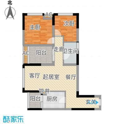 合川宝润国际78.83㎡二期1、7号楼标准层A户型