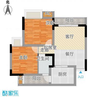 瀚恩韵动58.00㎡C2/3栋1、2、4、5号房标准层户型