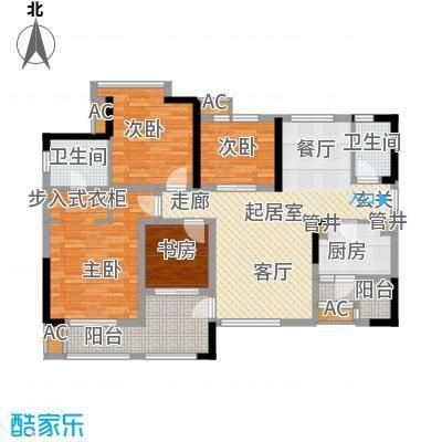 合川宝润国际120.35㎡一期3号楼标准层B户型