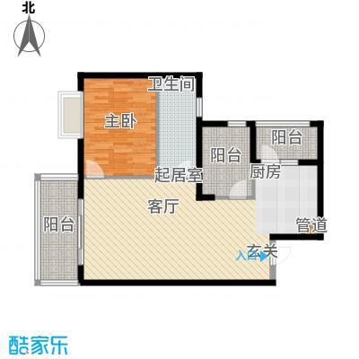庆业巴蜀城85.00㎡面积8500m户型