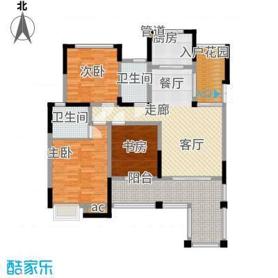 巨龙江山国际106.47㎡1期洋房1/2/6/7栋标准层A2户型