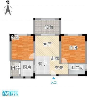 奇峰云邸63.00㎡二期23号楼标准层B户型