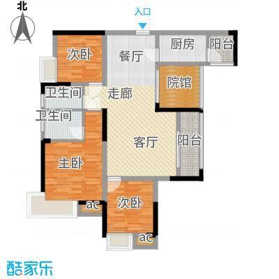 巨龙江山国际109.99㎡2期高层14、15号楼标准层H1-7户型