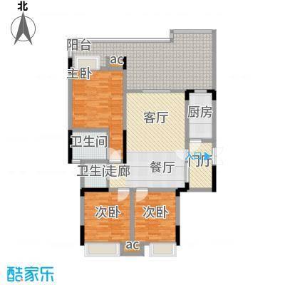 巨龙江山国际109.40㎡1期洋房1/2/6/7栋标准层D3户型