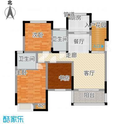 巨龙江山国际103.69㎡1期洋房1/2/6/7栋标准层A4户型