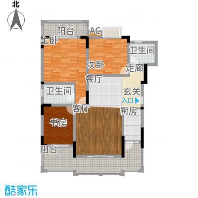 奇峰云邸90.00㎡二期24号楼标准层2A户型