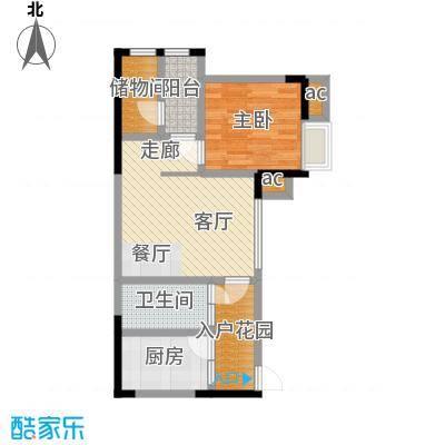 巨龙江山国际61.75㎡2期高层14、15号楼标准层H1-5户型