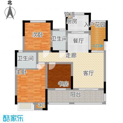 巨龙江山国际103.69㎡1期洋房1/2/6/7栋标准层A3户型
