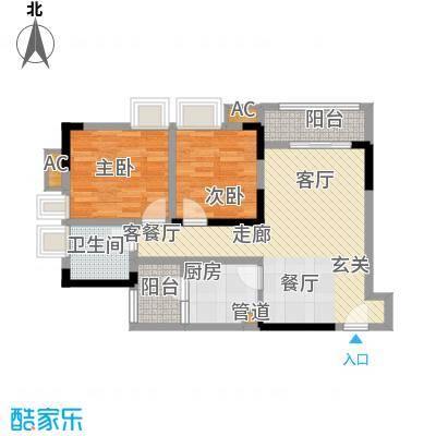 康田漫香林67.00㎡一期1号楼标准层B7户型