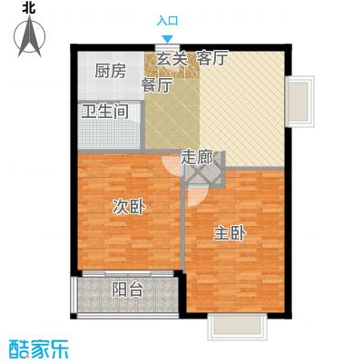华宇西城丽景86.00㎡面积8600m户型