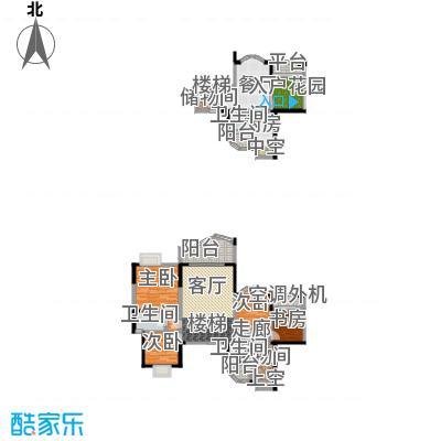 华宇西城丽景134.90㎡3单元1号房面积13490m户型