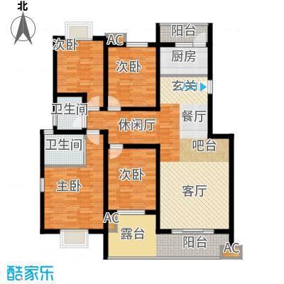 川东瀛嘉天下130.86㎡一期3-8号楼4楼G户型