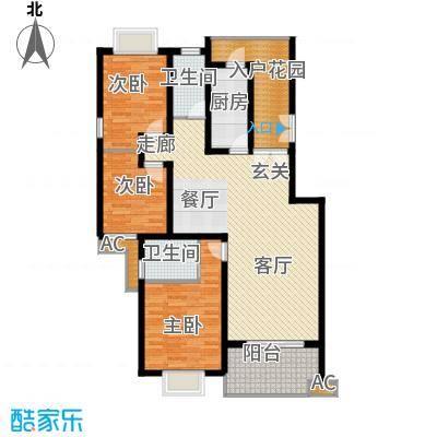 川东瀛嘉天下121.22㎡一期3-8号楼4楼H户型