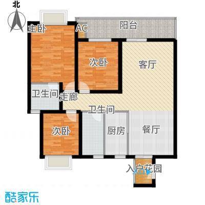 川东瀛嘉天下115.77㎡一期1/2/9/10号楼5-8楼Ba户型