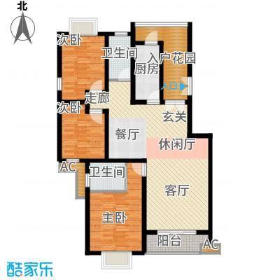 川东瀛嘉天下121.03㎡一期3-8号楼5楼H户型