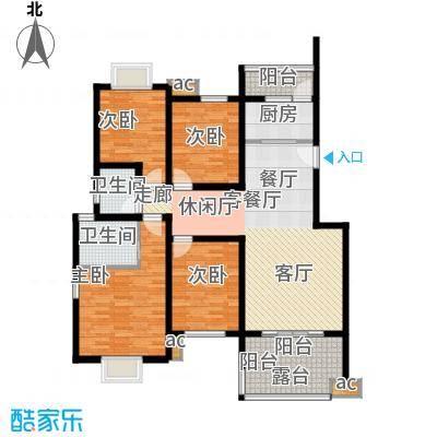 川东瀛嘉天下125.36㎡一期水岸国际组团1/2/9/10号楼5楼G户型