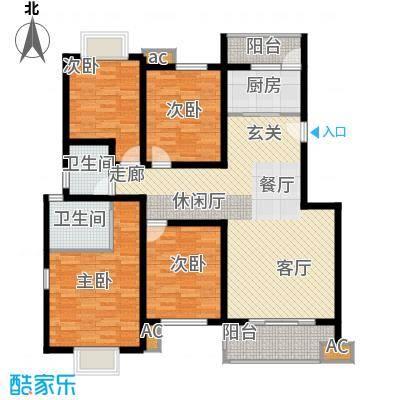 川东瀛嘉天下125.14㎡一期3-8号楼6-7楼G户型