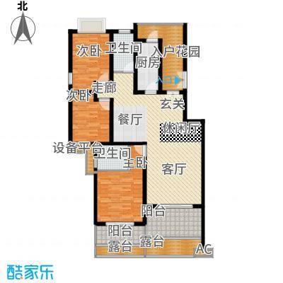 川东瀛嘉天下126.44㎡一期3-8号楼2楼H户型