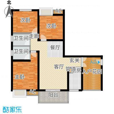 川东瀛嘉天下110.54㎡一期1/2/9/10号楼标准层C2户型