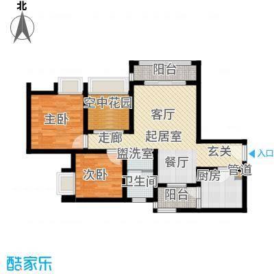 琳昌上上城69.95㎡一期3号楼标准层C1户型