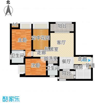琳昌上上城78.90㎡一期2号楼标准层A4户型