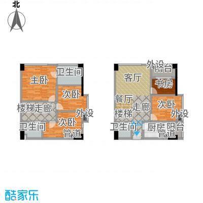 兰花丽景添丁85.00㎡一期4栋标准层G户型