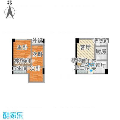 兰花丽景添丁52.00㎡一期4栋标准层C2户型