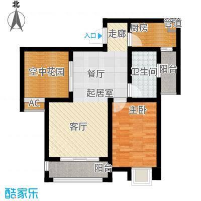 琳昌上上城58.08㎡一期1号楼标准层B4户型
