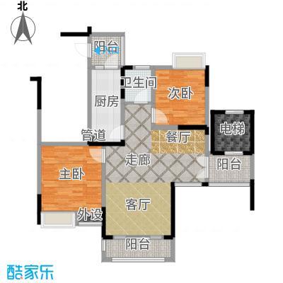 云山MOHO82.25㎡一期2、3号楼标准层A3户型