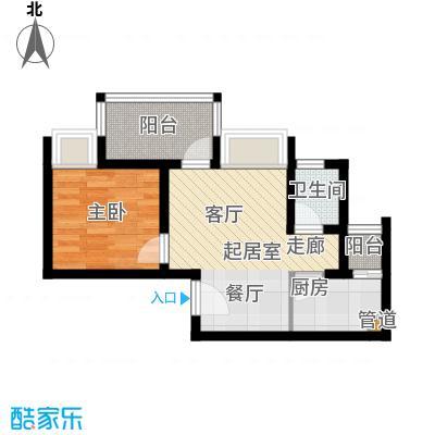 琳昌上上城38.07㎡一期3号楼标准层C2户型