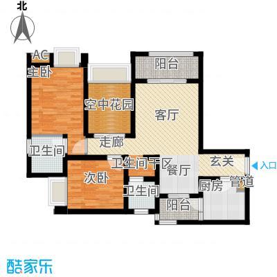 琳昌上上城79.08㎡一期3号楼标准层C3户型