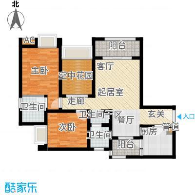 琳昌上上城79.08㎡一期1号楼标准层B1户型