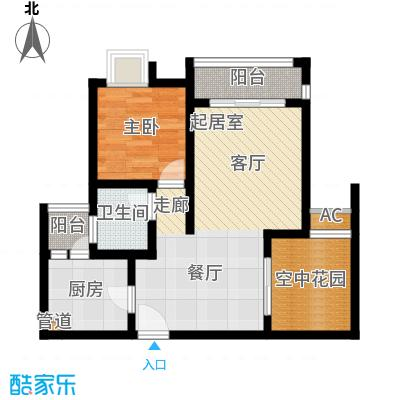 琳昌上上城54.68㎡一期3号楼标准层C4户型