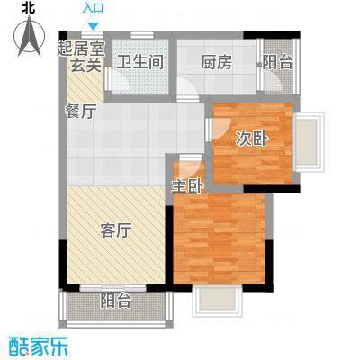 乔鹤西苑76.97㎡一期1号楼标准层A5户型