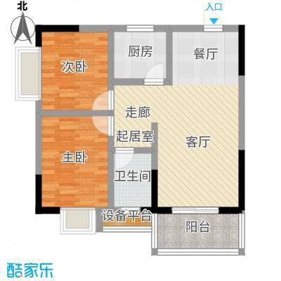 乔鹤西苑78.10㎡一期1号楼标准层B4户型