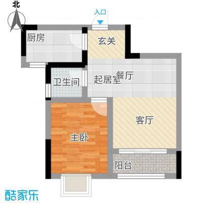 乔鹤西苑48.07㎡一期1号楼标准层A3户型