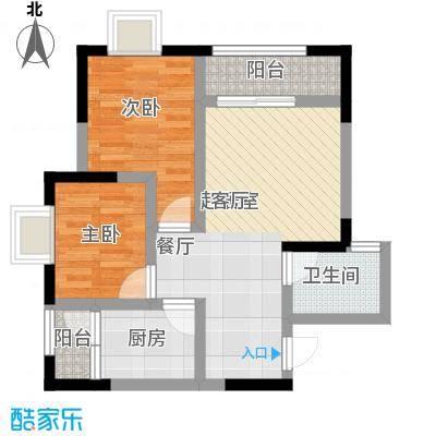 乔鹤西苑65.83㎡一期1号楼标准层B5户型