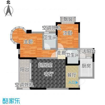 银翔城83.07㎡二期6、7、8号楼标准层A1户型