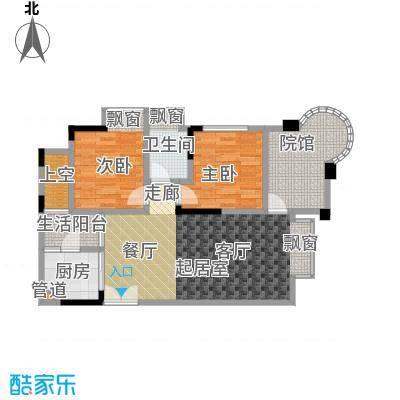 银翔城67.40㎡1期3、4栋楼标准层B2户型