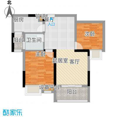 尚江宸溪香苑90.00㎡一期4号楼标准层C2户型