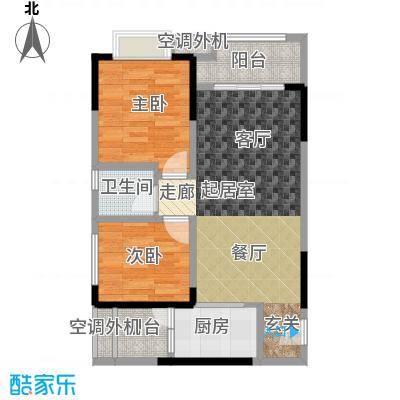 银翔城71.43㎡二期2、6号楼标准层B1户型