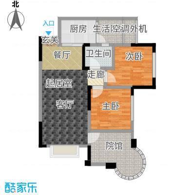 银翔城80.21㎡二期6、7、8号楼标准层A4户型