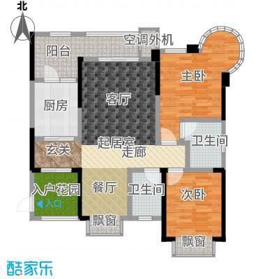 银翔城99.60㎡二期6、7、8号楼标准层A3户型