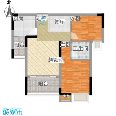 金科绿韵康城70.77㎡4期17号楼B面积7077m户型