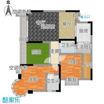 银翔城98.13㎡二期6、7、8号楼标准层A5户型