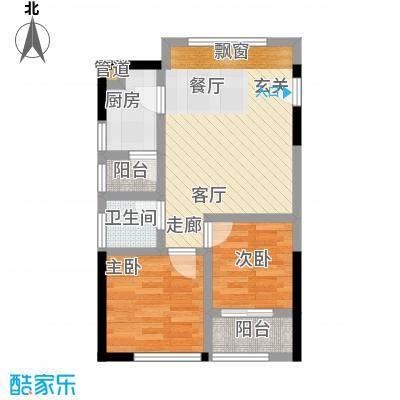 郁金香国际公寓49.42㎡二期B栋标准层19号户型