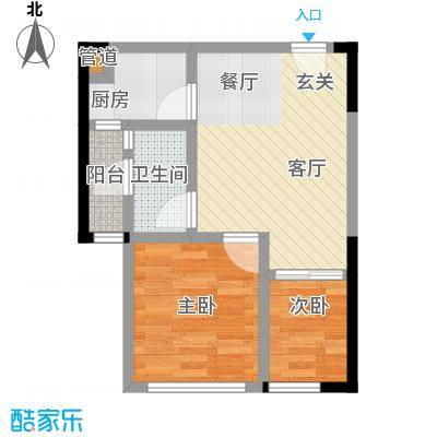 郁金香国际公寓43.20㎡二期B栋标准层15号户型