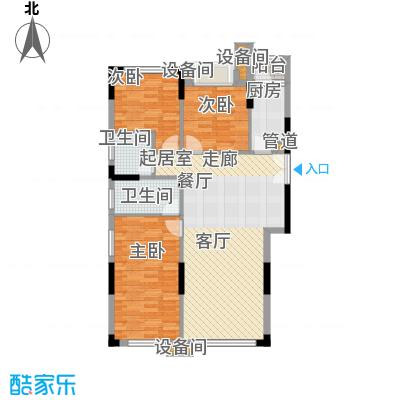 康田紫悦府92.23㎡一期跃层洋房C1一层户型