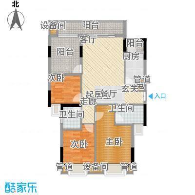 康田紫悦府82.99㎡一期平层洋房B5三层户型