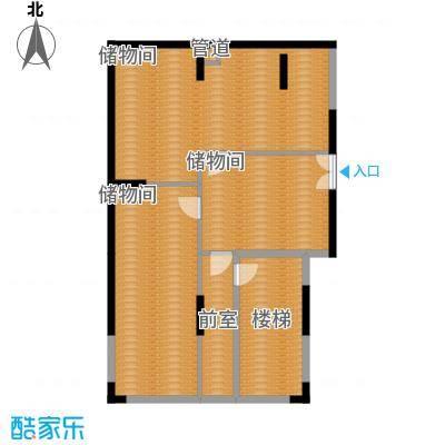 康田紫悦府92.23㎡一期跃层洋房C1地下室户型